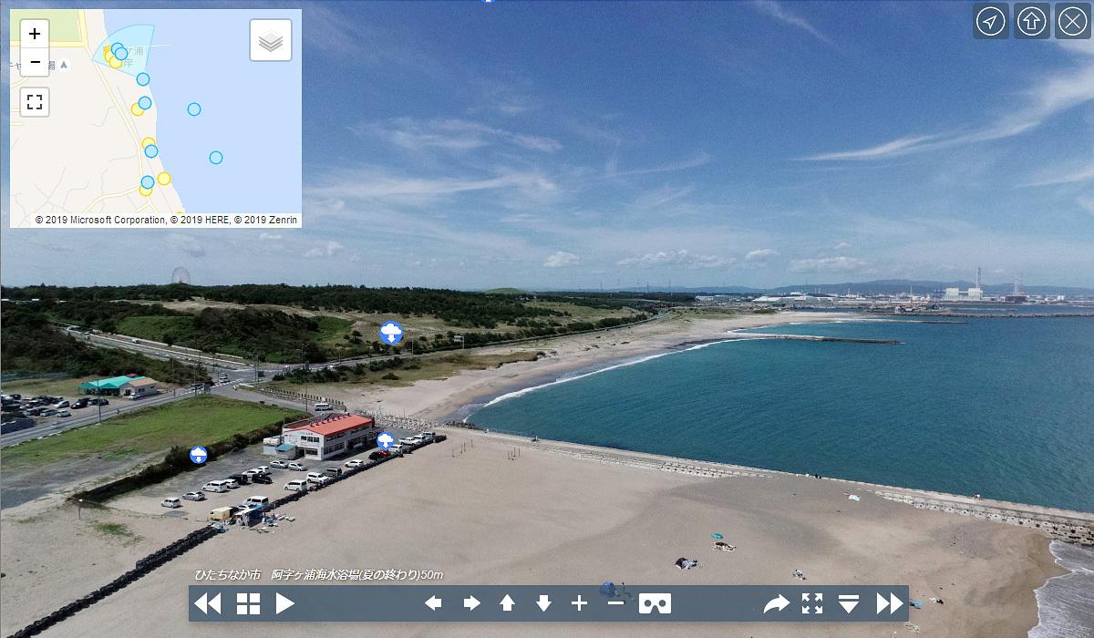 茨城県ひたちなか市の阿字ヶ浦海水浴場北部にある海の家シーサイド渚