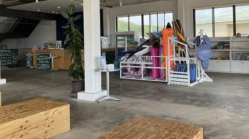 阿字ヶ浦海の家:南浜ビーチガーデンの浮き輪貸し出し